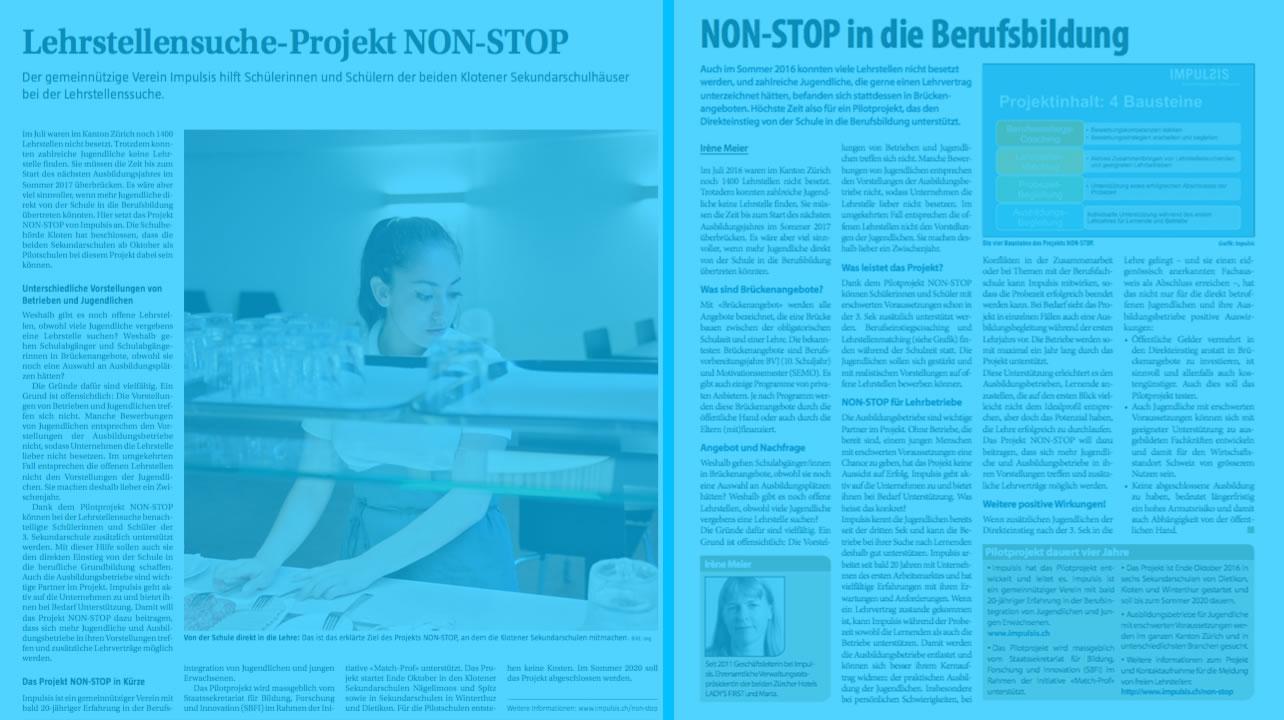 NON-STOP in den Medien - 2 Presseartikel als PDF